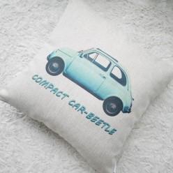 Декоративная подушка из натурального льна с цифровой печатью