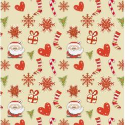 """Скатертная ткань """"Новогодняя коллекция 2017"""" Santa"""