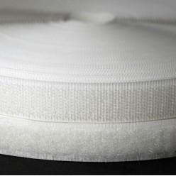 Контактная лента (петля+крючок) белая, 20мм